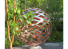 150 Diameter Stainless Steel Ball Sculpture Polished Metal Hollow Sphere For Garden
