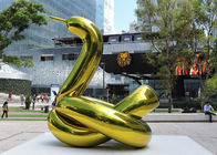 Titanium Coated Stainless Steel Balloon Sculpture Artist For Outdoor Public Decoration