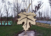 Art Stainless Steel Leaf Painted Metal Sculpture For Garden Park Decoration