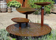 Cascading Outdoor Waterfall Corten Steel Water Feature Fountain For Garden