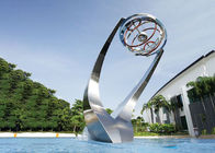 Modern Matt Stainless Steel Water Feature Fountain Corrosion Stability