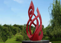 5m Large Outdoor Metal Red Painted Stainless Steel Sculpture