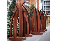 Contemporary Rusty Welding Garden Corten Steel Leaf Sculpture