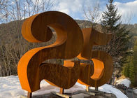 Urban Rusty Welding Garden Number 25 Corten Steel Sculpture