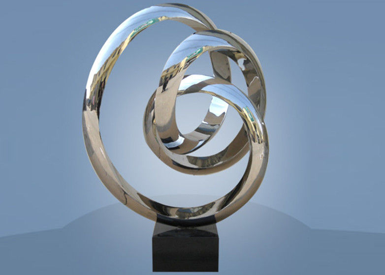 Large Size Stainless Steel Sculpture Circle Around For