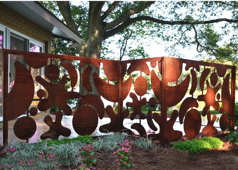 Beautiful Outdoor Metal Wall Art Decor And Sculptures For Fence