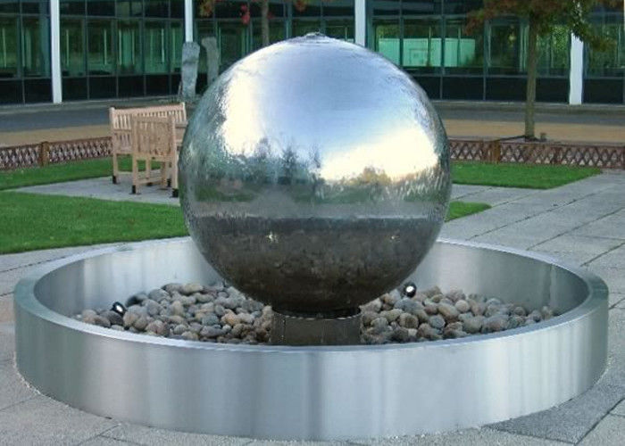 Stainless Steel Ball Water Feature / Stainless Steel Sphere Water Features  For The Garden