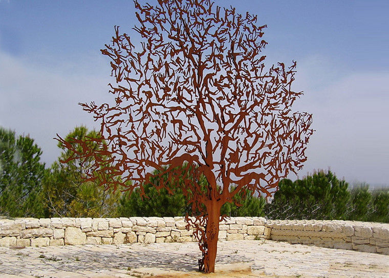 Art Décor: Laser Cut Outdoor Metal Tree Sculpture Corrosion Stability