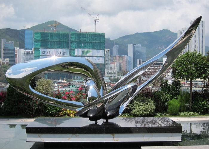 Contemporary Modern Stainless Steel Sculpture Large Garden Metal Art
