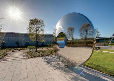 China Morden Highly Polished Stainless Steel Sculpture Torus For Lawn Featuring factory