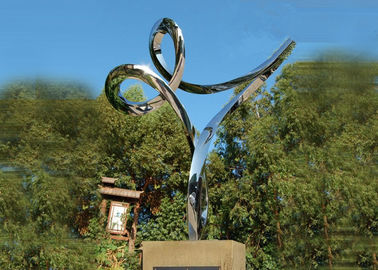 China Professional Stainless Steel Outdoor Sculpture , Stainless Steel Art Sculptures factory