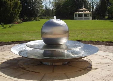 China Tiered Dishes 75cm Stainless Steel Sphere Water Feature Forging Technique factory