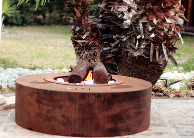 China Eco Friendly Attractive Garden Heating Corten Steel Fire Pit Round Shape  factory