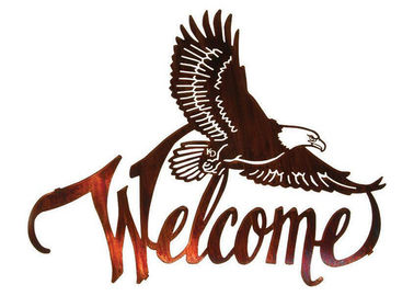 American Bald Eagle Welcome Large Metal Wall Sculptures For Home Decorations