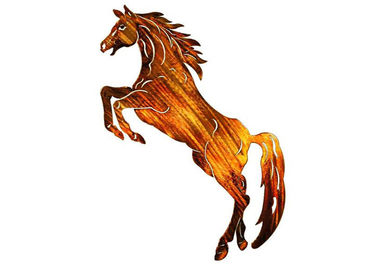 Metal Horse Wall Art Hanging , Metal Horse Wall Sculpture Corrosion Stability