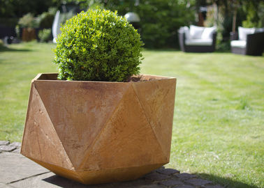 Corten Steel Products Corten Steel Planter For Public / Garden Decoration