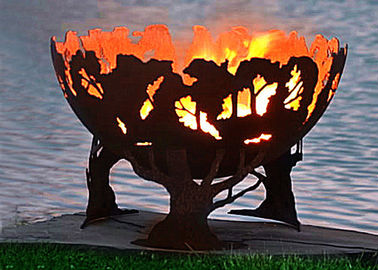 China Fashionable Design Corten Steel Fire Pit Bowl Superior Corrosion Resistance factory