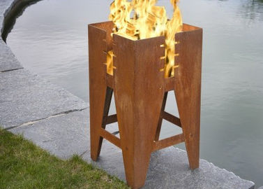 Durable Outdoor Corten Steel Fire Pit Barbecue Customized Size Available