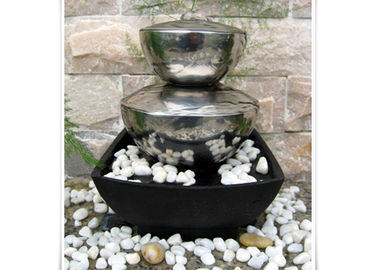 China Outdoor Garden Fountain Sculpture Contemporary Stainless Steel Water Features factory