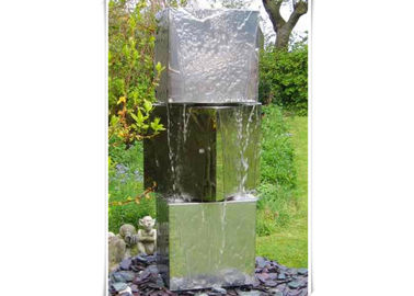 Public Decorative Stainless Water Feature Customized Size Polished Finishing
