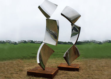 China Outside Design Abstract Metal Garden Sculptures , Modern Lawn Sculpture factory