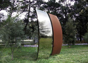 China Garden Art Corten Steel Sculpture , Metal Sculpture Art 200cm Height factory