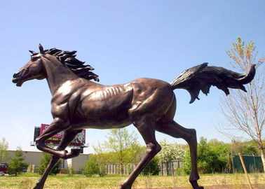 China Large Running Bronze Garden Statues Horse Sculpture Corrosion Stability factory