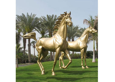 Modern Garden Decoration Metal Bronze Horse Sculpture , Bronze Horse Statue
