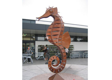 Large Decorative Outdoor Metal Animal Corten Steel Seahorse Sculpture
