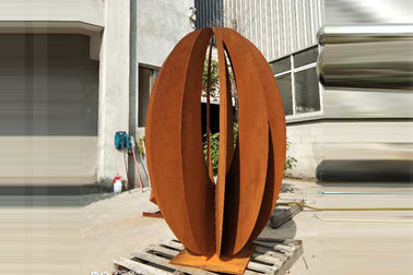 Corten Landscape Outdoor Steel Sculpture Garden Decor Rusty Naturally Finish