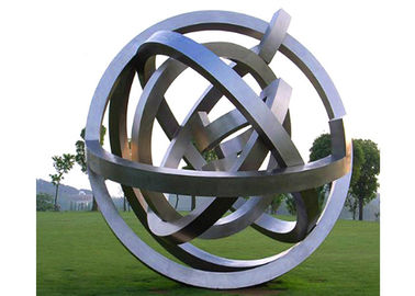 China Outdoor Metal Sphere Large Modern Stainless Steel Sculpture Garden Art Sculpture factory