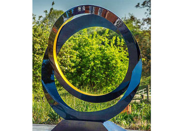 China Circle Contemporary Decoration Stainless Steel Sculpture Artists 100cm Dia factory