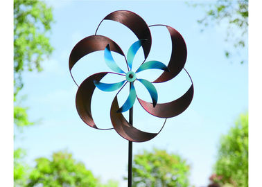Decorative Wind Outdoor Metal Sculpture Stainless Steel Kinetic Sculpture Custom Size