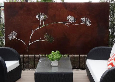 Modern Corten Steel Rusty Metal Wall Sculpture Art Panel , Metal Sculpture Wall Art