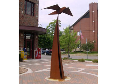 Out Door Garden Art Sculpture Corten Steel Decorative Square Long Life