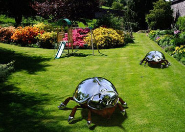 China Large Stainless Steel Sculpture Artists Metal Animal Insect Sculpture Garden factory