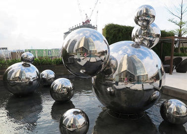 Custom Made Mirror Polished Modern Stainless Steel Sculpture 316 Hollow Ball