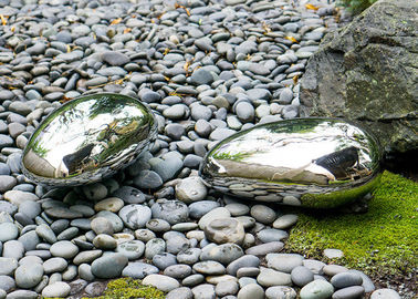 China Polished Rock Sculpture , Stainless Steel Outdoor Sculpture Customised factory