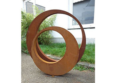 China Contemporary Decoration Sculpture Outdoor Corten Steel 3D Sculptures factory