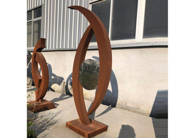 Factory Directly Sale Outdoor Garden Corten Steel Sculpture In Stock