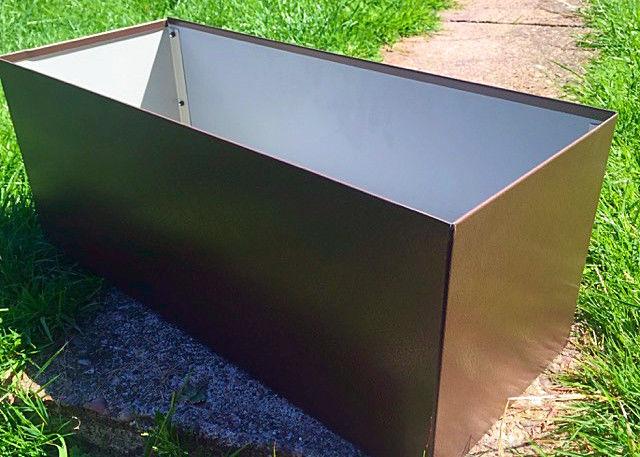 100cm Long Stainless Steel Rectangular Planter Stainless Steel