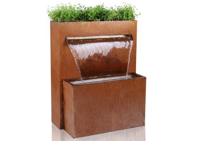 Contemporary Corten Steel Water Wall Water Feature Corrosion Stability