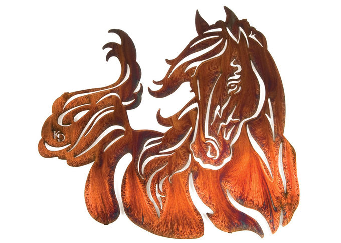 Professional Large Wild Horse Wall Art Metal Sculpture For Home Decoration
