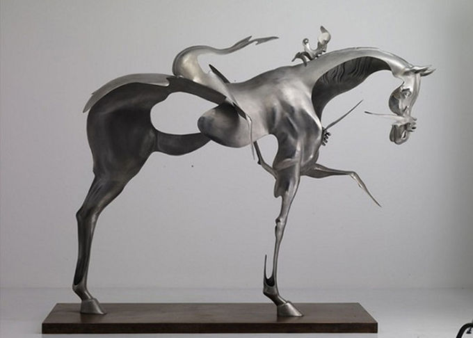 Spectacular Incomplete Horseman Outdoor Metal Sculpture Forging Technique 0