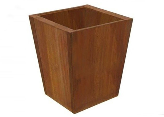 Outdoor Indoor Nice Planter Corten ,Square Tapered Planter Multi Function