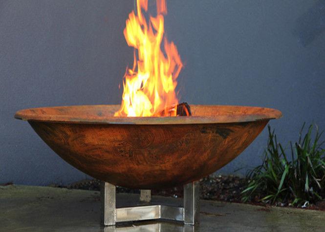 Rusty Finish Corten Steel Fire Bowl Round Steel Fire Pit
