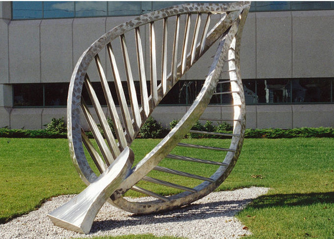 Large Contemporary Art Outdoor Metal Sculpture Leaf Metal Garden