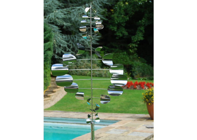 Wind Kinetic Stainless Steel Outdoor Sculpture Large Garden Decorative