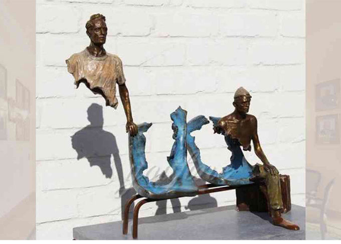 Outdoor Abstract Bronze Casting Finish Bruno Catalano Sculpture Corrosion Stability