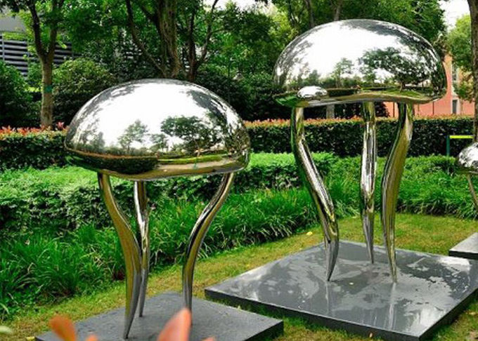 Garden Stainless Steel Sculpture Polished And Matt Yin Yang Modern Art Statues
